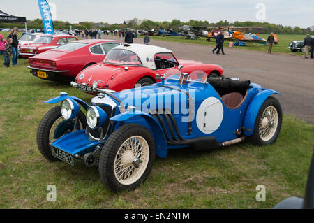 496 Riley Falcon Special (1935) vintage sport car at the 5th Sunday Brunch Scramble in Bicester Heritage, Oxfordshire, - Stock Photo