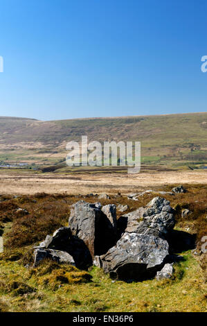 Former Industrial landscape on hills above Blaenavon, Torfaen, South Wales, UK. - Stock Photo