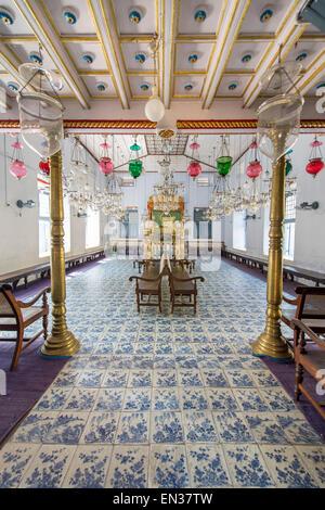 Paradesi Synagogue, Jewish Quarter or Jew Town, Mattancherry, Kochi, Cochin, Kerala, India - Stock Photo
