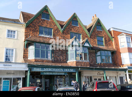 The Merchant's House on the High Street in Marlborough, Wiltshire, England, UK - Stock Photo