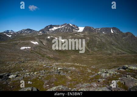 Besseggen Ridge in Jotunheimen National Park, Norway - Stock Photo