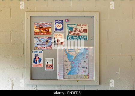World War II era posters. - Stock Photo