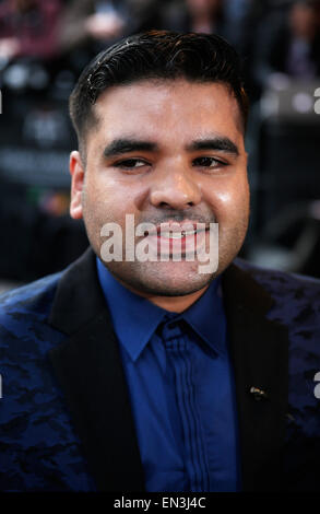 Shahid Khan, known by his stage name Naughty Boy, arrives for an award ceremony in London April 2015 - Stock Photo