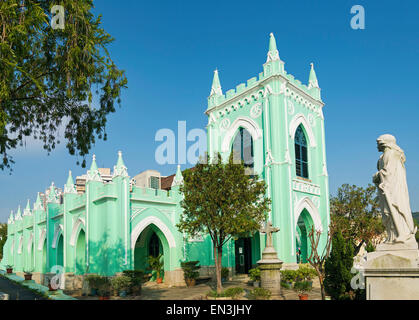 St michael portuguese christian cemetery church in macau macao china - Stock Photo
