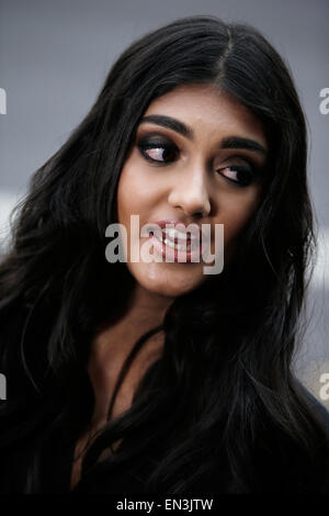 Neelam Gill is seen as she arrives for an award ceremony in London April 2015 - Stock Photo
