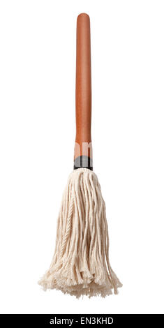Barbecue Sauce Basting Mop with a Wooden Handle - Stock Photo