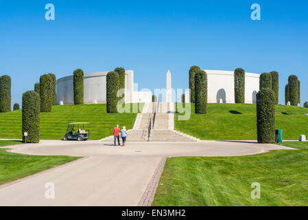 Visitors at the Armed Forces Memorial National Memorial Arboretum Alrewas Staffordshire England UK GB EU Europe - Stock Photo