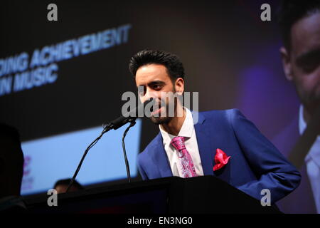 London 17 /04 /2015  Park Lane Zayn Malik  Receives award at Asian awards - Stock Photo