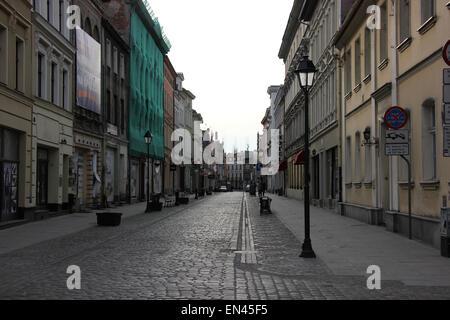 Street in Bydgoszcz, Poland - Stock Photo