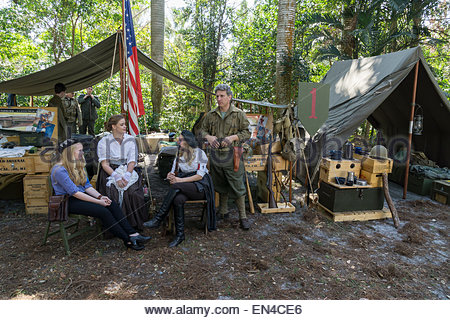 World War II reenactors at the Old Florida Festival at the Collier County Museum in Naples, Florida - Stock Photo