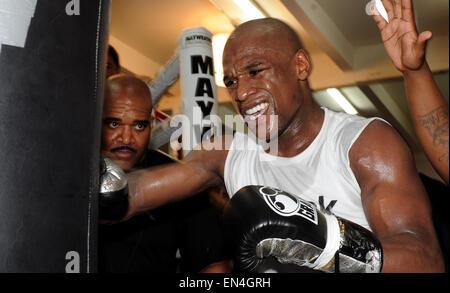 Las Vegas, Nevada, USA. 14th Apr, 2010. Floyd Mayweather, Jr. (USA) Boxing : Floyd Mayweather, Jr. of the United - Stock Photo