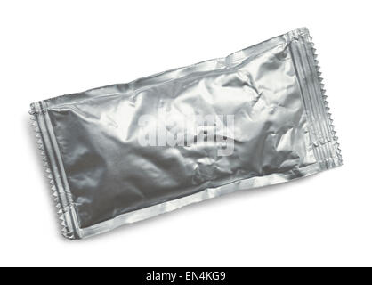 Ketchup Condiment Packet Isolated on a White Background. - Stock Photo