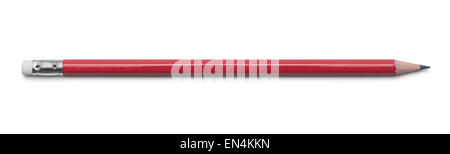 Red Number 2 Pencil Isolated on a White Background. - Stock Photo