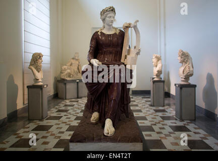 ancient roman art in the  National Archaeological Museum in Naples - Stock Photo