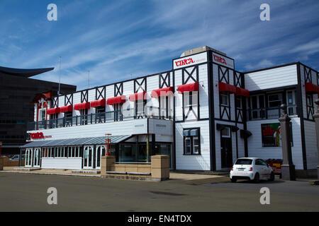 Circa Theatre, waterfront, Wellington, North Island, New Zealand - Stock Photo
