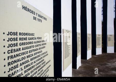 war monument in Managua - Stock Photo