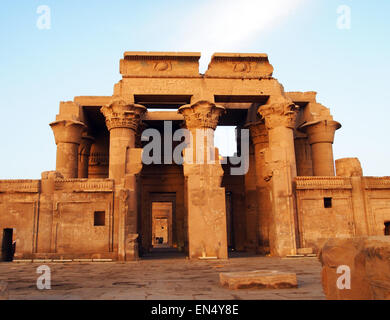 Temple of Kom Ombo in Egypt. Photography by Qin Xie. - Stock Photo