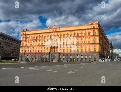 Lubyanka KGB Building in Moscow, Russia - Stock Photo
