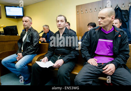 The Regional Court in Hradec Kralove imposed prison sentences from 3.5 to six years on three Poles today, on Wednesday, - Stock Photo