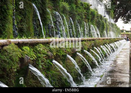 Le Cento Fontane The Hundred Fountains  at Villa d'Este gardensTivoli - Stock Photo