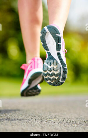 Close up of runners feet - Stock Photo