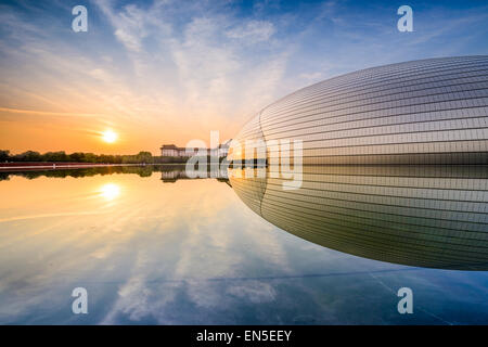 National Centre for the Performing Arts. The futuristic design stirred controversy when the theater was completed - Stock Photo