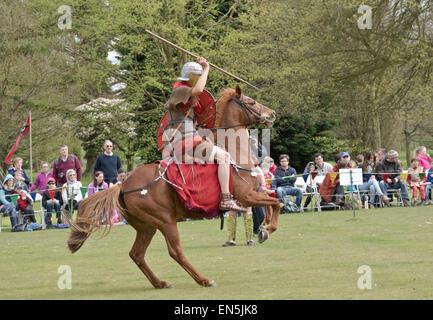 The Ermine Street guard Roman army re-enactment display team - Stock Photo