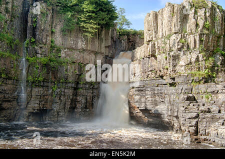 High Force, one of Englands famous Waterfall in Forest-in-Teesdale, North England - Stock Photo