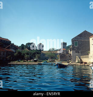 Urlaub auf der Insel Šipan, Dalmatien, Kroatien, Jugoslawien 1970er Jahre. Vacation on the Island of Šipan, Dalmatia, - Stock Photo
