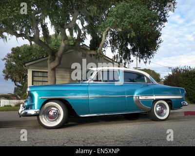 1954 BelAir Chevrolet classic American automobile Pacific Grove Monterey California USA - Stock Photo