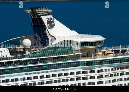 Voyager of the Seas cruise ship, Wellington, North Island, New Zealand - Stock Photo