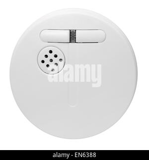 a smoke alarm in white back - Stock Photo