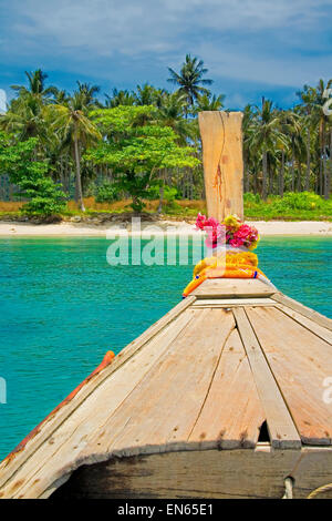 Longtail boat in Krabi, Thailand - Stock Photo