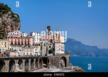 Atrani, Amalfi Coast, Campania, Italy - Stock Photo
