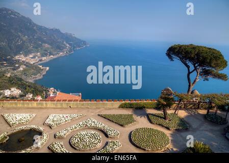 Villa Rufolo, Ravello, Amalfi Coast, Campania, Italy - Stock Photo