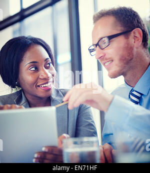 Business Colleagues Discussing in the Office - Stock Photo