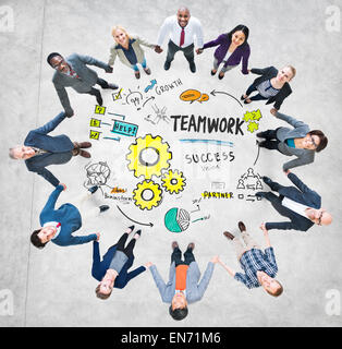 Teamwork Team Together Collaboration Business People Unity Concept - Stock Photo