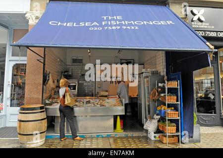 The Chelsea Fishmonger, Chelsea, London, England, UK - Stock Photo