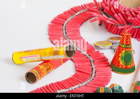 Close-up of rocket firecracker in a bottle - Stock Photo