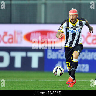 Udine, Italy. 28th April, 2015. Udinese's forward Cyril Thereau during the Italian Serie A football match between - Stock Photo