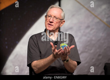 Sean Solomon, MESSENGER principal investigator, speaks at an event to celebrate the conclusion of the MErcury Surface, - Stock Photo