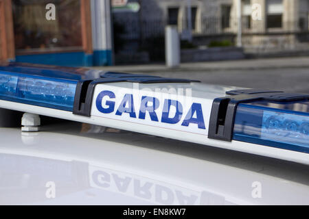 garda irish police patrol car sligo republic of ireland - Stock Photo