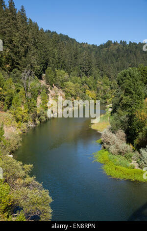 The Russian River near Guernville in Northern California. - Stock Photo