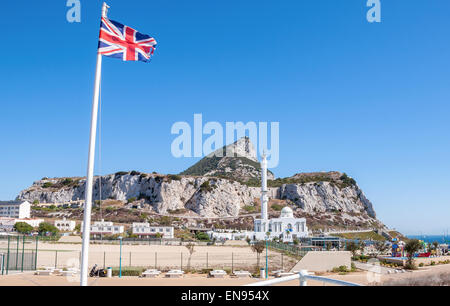 The Mosque on Gibraltar located at Europa Point - Stock Photo
