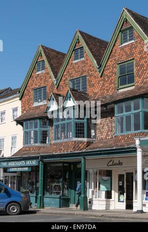 England, Wiltshire, Marlborough, The Merchant's House - Stock Photo