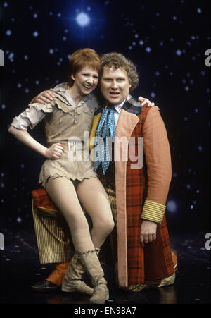 Actor Colin Baker, who plays Doctor Who in the BBC science fiction programme, photographed with Bonnie Langford - Stock Photo