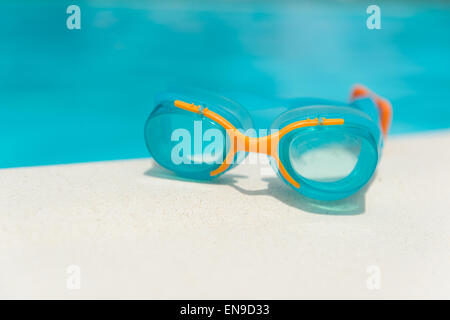 Summer vacation at the swimming pool - Stock Photo
