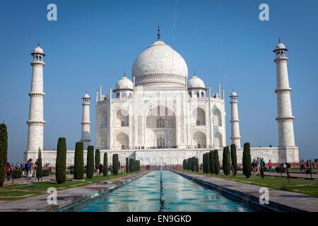 The Taj Mahal, Agra, India - Stock Photo