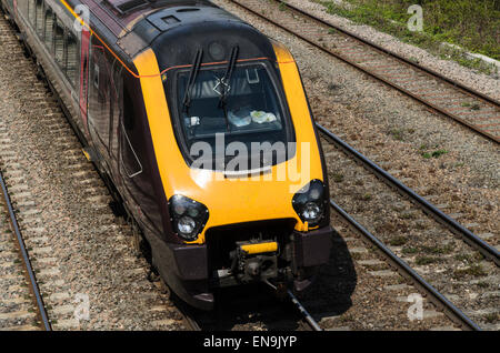 A Class 221 Super Voyager train operated by Virgin Trains, England, UK - Stock Photo