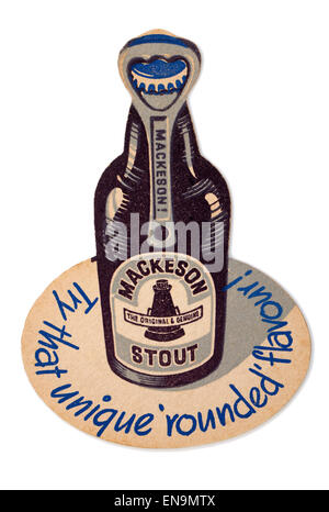 Vintage Beermat advertising Mackeson Stout - Stock Photo